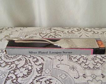 Vintage Silver Plated Lasagna Server Godinger Serving Utensil Cake Server Dessert Serving Utensil Vintage  Early 1990s