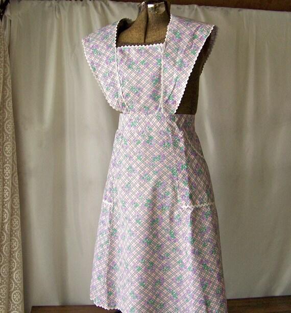 Tablier Vintage Ann Es 50 Fabriqu La Main De Lavande