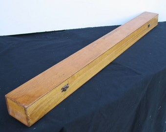 Vintage Wooden Fly Rod Box With Hidden Storage Compartments
