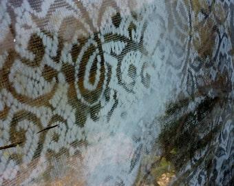 Mirror Shabby Boho Chic Oxidized Lace Vintage Mirror LARGE Shabby Chic Boho Cottage Romantic Mirror