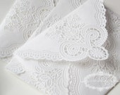SALE - Vintage Lace Envelopes - Vintage Paper Doily Envelopes - single SAMPLE (seen in Weddingbells Magazine)