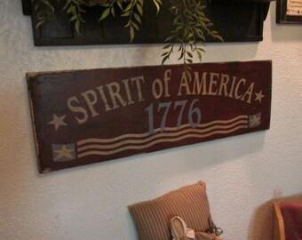 Spirit of America Primitive Americana Sign