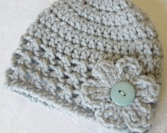 Crocheted Baby Beanies.  Sizes newborn to 12 months available.  Choose your color.  ships in 24 hours.