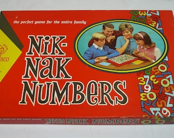 Nik-Nak Numbers Board Game – Rare Vintage – Cadaco 1967 – Home School Math Mathematics