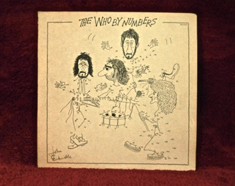 The WHO - By the Numbers - 1975 Vintage Vinyl Record Album
