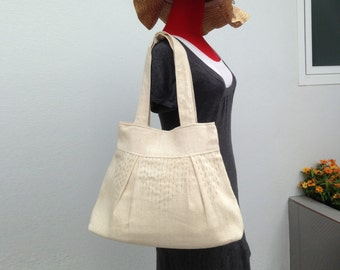 SALE Embroiedered Organic Hemp and Cotton Bag, Everyday Purse, Tote bag, Shoulder bag, Handbag, Bridesmaid bag, Women, OOAK - Twitty