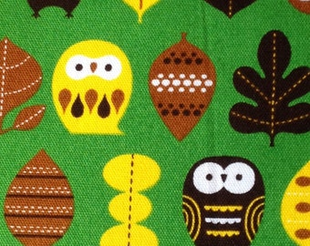 One yard Japanese cotton fabric owl printed