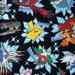 SALE Pocket Monsters printed fabric Pokemon black colour half yard