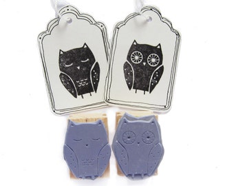2 rubber stamps - OWLS