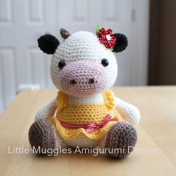 Amigurumi Pattern Little Cows : Amigurumi Crochet Pattern Clementine Cow