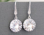 Crystal Bridal Earrings, Wedding Jewelry, Lux Cubic Zirconia Earrings, Bridesmaid Gifts