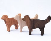 Natural Dog Rattle Toy // Handmade Organic Puppy Baby Wood Teething Rattle // Personalized Eco Friendly and Sweet Boy or Girl Baby Gift