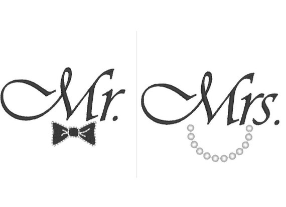 Line Design Art With Mr E : Mr and mrs great for wedding gifts machine embroidery
