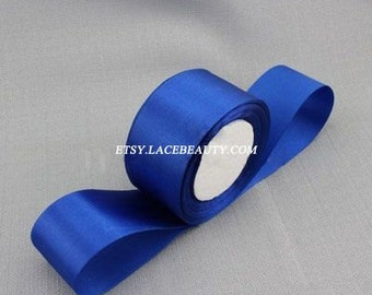 Royal Blue Ribbon Terylen Lace Trim 1.96 Inches Wide 22 meters