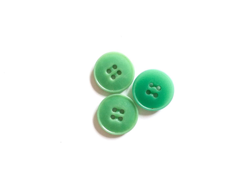 3 green buttons vintage button jade green button by - Green button ...