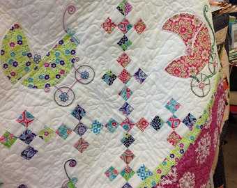 Baby Strollers Quilt PDF Pattern Sassy Strollers