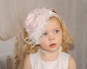 Baby Girl Headband, Baby Girl Bows, Bow Headband,  Infant Headband, Photo Prop, Easter Headband, Dollcake, Flower Girl Accessories, Infant