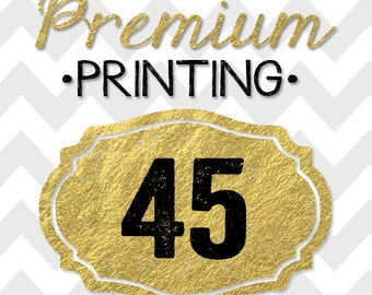 45 5x7 PREMIUM PRINTED double-sided INVITATIONS on thick cardstock and free white envelopes