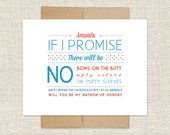 Will You Be My Matron of Honor? Customizable Card