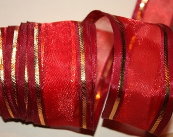 S A L E  2 yards Ribbon with Wire is Gorgeous Home Decor