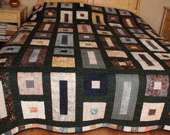 One of a Kind Handmade Queen Size Quilt  measures 86x 101 inches and pieced by Barb Lynn