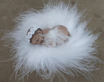 Handmade Ethnic Infant Baby Angel Doll Miniature for display or decoration, cake topper or photography prop