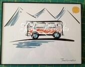Volkswagen Bus/Van Print