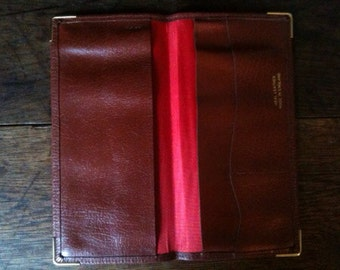 Vintage English Brown Wallet circa 1970's / English Shop