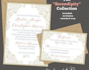 Printable Wedding Invitation - Serendipity