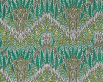 """End of Bolt 1 Yard 16"""" of Fox Field Botanica Shade by Tula PInk for Free Spirit"""