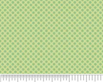 SALE 1 Yard Green Mini Dots from Hoo's In The Forest by Doohikey Designs for Riley Blake