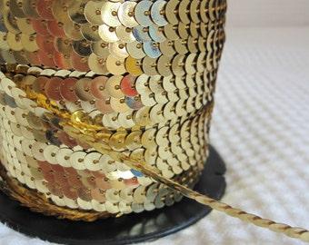 5 Yards Light Gold Sequin Trim - 13