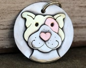 Dog Tag - Dog ID Tag - Pet Tag - Custom dog tag- Pitty dog tag or key chain