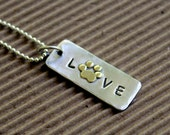Love My Pet  Necklace in sterling silver and NuGold