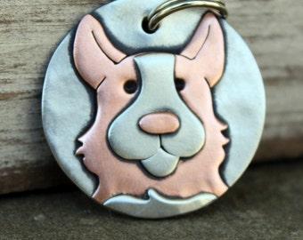 Custom Dog Tag - Dog ID Tag - Pet Tag - Dog Tags Custom-Corgi - breed tag or key chain