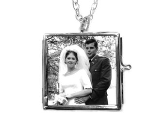 Bridal Bouquet / Boutonniere Locket Custom Photo Wedding Keepsake, Over 70 Satisfied  Brides,5 Star Reviews, FREE Gift/ Free SHIP USA
