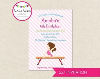 DIY, Gymnastics Birthday INVITATION ONLY