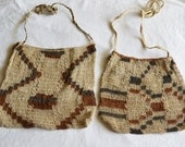 Bohemian Bag, Hand Made in the Amazon, Souvenir, Vintage Ethnic fabric, Natural Color no dyes