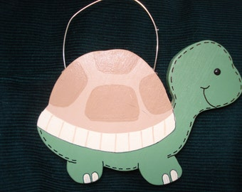 Personalized Wood Christmas Ornament - Turtle