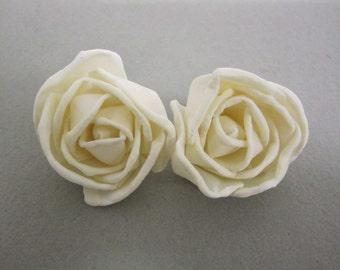 Sola Rose Bud Flowers  -- Set of 6  -- Natural Color