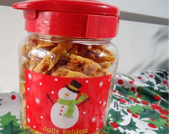 Peanut Brittle 10oz Canister -Ken's Airy Crunch Homemade Brittle