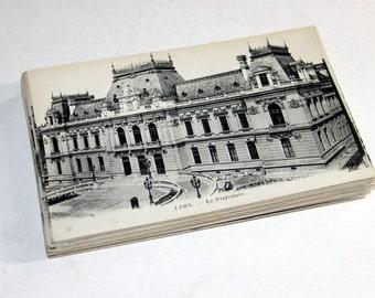 SALE 50 Vintage France Black and White Postcards