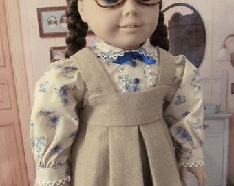 Historical Dress, School Dress,  1940 era, Blouse,  Wool Jumper,  18 Inch Doll Clothes