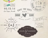INSTANT DOWNLOAD - Save The Date Words Overlays vol.8