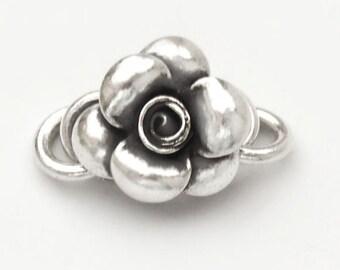1 of Karen Hill Tribe Silver Flower Clasp 15mm. :ka3670