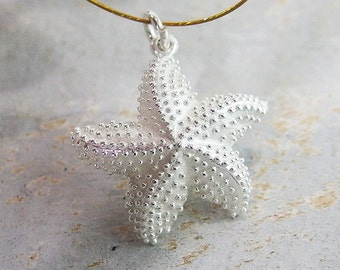 1 of 925 Sterling Silver Starfish Pendant 22mm. :th2002