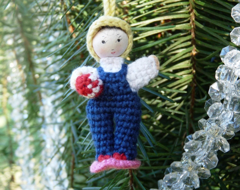 Make Japanese Amigurumi Ball : Crochet Miniature Japanese Amigurumi Doll Christmas Ornament