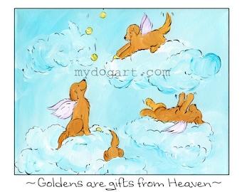 Golden Retriever Gifts from Heaven T shirt