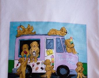 Golden Retriever ICECREAM T shirt