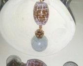 Fiery Gemstone and Copper Earrings